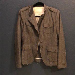 Banana republic wool herringbone military jacket